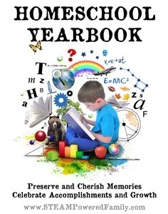 Homeschool Yearbook ~ Preserve and cherish memories, Celebrate accomplishments and growth with a personalized and unique homeschool yearbook.