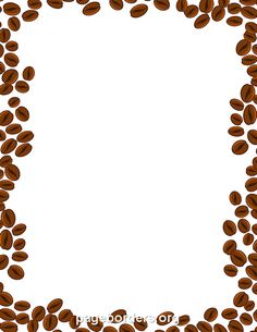 Coffee Beans Border Clip Art Page Border And Vector Graphics Coffee Beans Coffee Type Beans