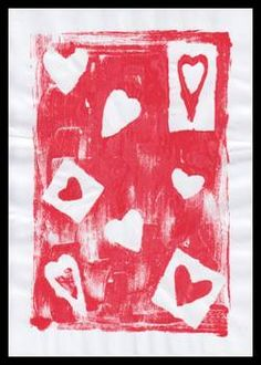 Srdce - otisk