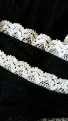 Close up of the lace on the maxi dress.
