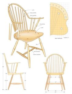 Continuous Arm Windsor Chair – Part 1 Bedroom Furniture Sets, Home Furniture, Furniture Design, Bedroom Sets, Outdoor Furniture Plans, Country Furniture, Woodworking Blueprints, Woodworking Plans, Primitive Dining Rooms