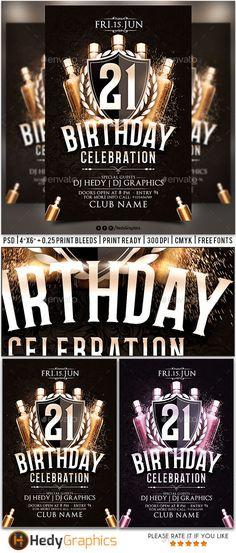 Birthday Celebration Flyer Template PSD