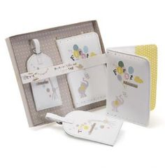 Baby Passport Holder and Luggage Tag    The very first adventure! Keep Baby's passport and luggage safe with this matching set. An ideal gift for the well travelled baby!    So Sweet - So Loved - So Cute
