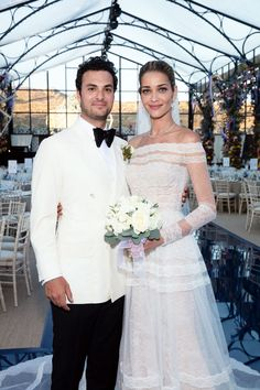 See Every Wedding Dress That Model Ana Beatriz Barros Wore to Marry Karim El Chiaty