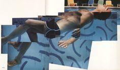 Photo collage by David Hockney.