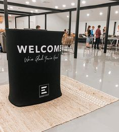 Large Rectangular Counter Church Welcome Center, Portable Display, Black Counters, Car Trunk, Foyer Ideas, Counter Display, Custom Printed Fabric, Worship