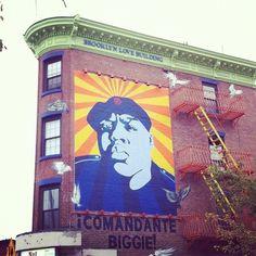 Comandante Biggie #biggiesmalls #notoriousBIG   #brooklyn #mural (Taken with Instagram at Not Ray's Pizza)