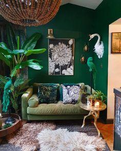 Room Wall Decor, Living Room Decor, Bedroom Decor, Deco Cool, Deco Originale, Green Rooms, Room Inspiration, Sunday Inspiration, Home Interior Design