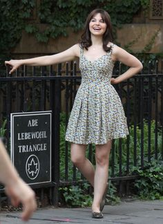 A cute sundress and something to laugh about.  Ginnifer Goodwin in Something Borrowed