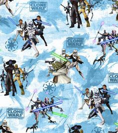 Star Wars Cotton Fabric Clone Wars Characters by AquamarsBoutique Star Wars Fabric, The Force Is Strong, Star Wars Gifts, Love Bugs, Joanns Fabric And Crafts, Clone Wars, Craft Stores, Printing On Fabric, Cotton Fabric