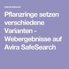 Pflanzringe setzen verschiedene Varianten - Webergebnisse auf Avira SafeSearch Weaving, Random Stuff, Rings, Plants