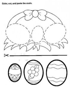 Easter Preschool No Prep Worksheets & Activities Easter Worksheets, Easter Activities, Preschool Crafts, Easter Art, Easter Crafts For Kids, Easter Egg Coloring Pages, Baby Clip Art, Diy Ostern, Happy Kids