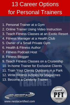 Personal Trainer Certification | Personal Training Course | Fitness Certifications | Education | Class | Classes | Program | School | Courses | Online Training | Accreditation | Accredited | Certified | Job | Jobs | Work at a Health Club | Gym | Gyms | Fitness Centers | Hire | Hiring | Interview | Pay | Income | Salary | Salaries  | Cost | Exam | Test | Examination | NESTA