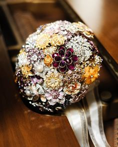 Another vintage brooch bouquet.
