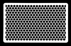 Silicone Bakeware 58 x 6 x 0.25 cm Hexagon Cake Decorating Stencil Grill Pattern, White: Amazon.co.uk: Kitchen & Home