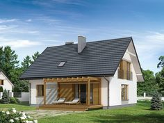 ​A super low-budget family house Round House Plans, Small House Plans, Prefab Homes, Design Case, Architect Design, Simple House, Home Fashion, Curb Appeal, Future House