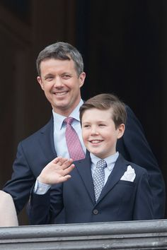 Crown Prince Frederik, and Prince Christian of Denmark attend Queen Margrethe II of Denmark's Birthday Celebrations at Amalienborg Palace, on April 16 in Copenhagen, Denmark Get premium, high resolution news photos at Getty Images Prince Christian Of Denmark, Denmark Royal Family, Prince Frederik Of Denmark, Prince Frederick, Queen Margrethe Ii, Princess Marie Of Denmark, Danish Royalty, Spanish Royal Family, Swedish Royals
