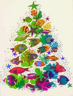 A Fish tree card - love the colors!