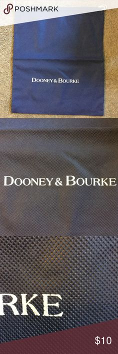 """Dooney & Bourke Dust Cover Dooney & Bourke Dust Cover, 14"""" by 16.5"""", flaw in the last """"E"""", see picture 3, dark blue Dooney & Bourke Bags"""
