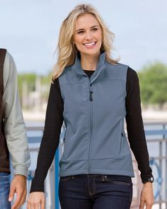Port Authority Women's Windproof Glacier Soft Shell Vest. Port Authority Shirts, Softshell, Fashion Outfits, Womens Fashion, Fashion Online, Sweater Cardigan, Lady, Sweaters, Jackets