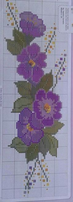 Lindos graficos para croche conduzido arasem fadinhas Cross Stitch Borders, Cross Stitch Flowers, Cross Stitch Designs, Cross Stitching, Cross Stitch Patterns, Beaded Embroidery, Embroidery Stitches, Pixel Art Templates, Crochet Cross