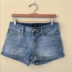 GAP denim shorts Such a staple in your summer wardrobe! These are in great shape. There is one small white spot (see last photo) but it's truly unnoticeable as it blends in with the wash of the shorts! GAP Shorts Jean Shorts