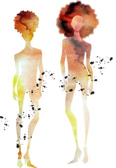 Adobe Illustrator Illustrations by Adina Carkhum  #Fashion Illustration  #Natural Hair