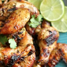 Cilantro Lime Chicken Wings #WeekdaySupper. Find more weeknight dinner recipes at www.sundaysuppermovement.com. #SundaySupper