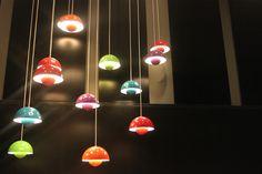 Verner Panton flowerpot pendant lamps making Kastrup airport even more beautiful.