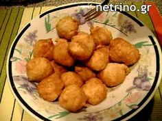 Greek recipe for loukoumades with honey.Ιt's like something donuts,pancakes.We eat it as dessert. sachet of cup lukewarm of teaspoon of salt) - oil for frying - honey and cinnamon Greek Desserts, Greek Recipes, Frying Oil, Honey And Cinnamon, 1 Cup, Donuts, Biscuits, Pancakes, Salt