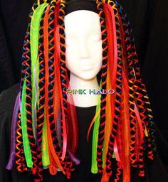 Cyber Falls - Chakra - Cyberlox Neon Rainbow Falls. $55.00, via Etsy.  I love these colors!