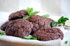 Kuchnia wegAnki: Ciasteczka czekoladowo - miętowe