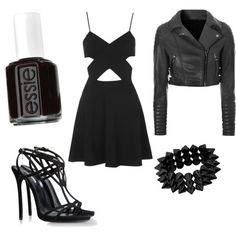 jane the killer by kylee1245 on Polyvore featuring polyvore fashion style Topshop Glamorous Dsquared2 Essie