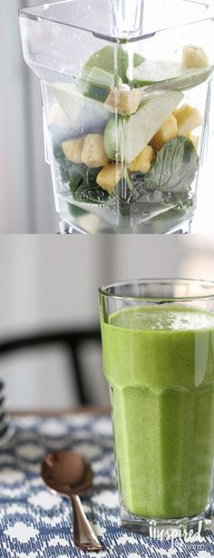 The BEST Green Smoothie recipe  | Inspired by Charm