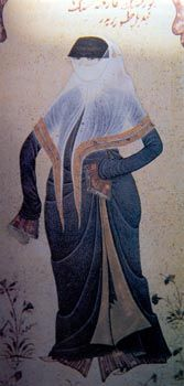 Woman in outdoor dress