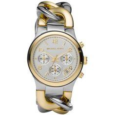 Michael Kors Watch, Women's Chronograph Two-Tone Stainless Steel Bracelet 38mm MK3199 $225