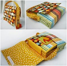 Quiet Book binding tutorial Part FIVE: back cover binding Diy Quiet Books, Baby Quiet Book, Felt Quiet Books, Binding Covers, Book Binding, Silent Book, Quiet Book Patterns, Fidget Quilt, Book Quilt