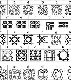 Islamic Art is filled with many geometric patterns and various shapes. Motifs Islamiques, Islamic Motifs, Islamic Tiles, Islamic Art Pattern, Arabic Pattern, Persian Motifs, Geometric Designs, Geometric Patterns, Geometric Shapes