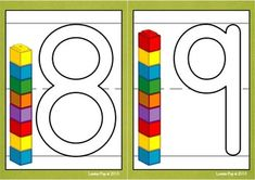 Playdough Mats - Numbers (0-30) with Unifix Cubes