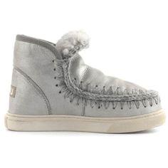 Mou Mini Eskimo Sneaker Women Microglitter silver - MOU #mouboots #mousale #moubootssale #BlackFriday