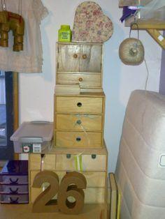 Hobbykamer, labels en linten- opslag.