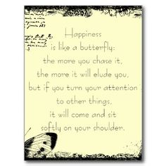 Happiness and Butterflies Quote Postcards