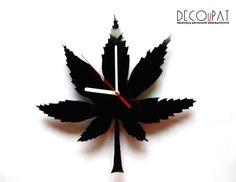 """Zegar+z+płyty+winylowej+""""Marihuana""""+w+DECOuPAT+na+DaWanda.com"""