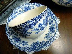 Crown Ducal Bristol Blue Teacup Tea Cup and by TheVintageTeacup, $20.00