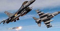10 Türk F-16'sı havalandı