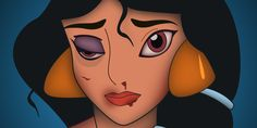 Bruised And Bloodied Disney Princesses Remind Us Domestic Violence Can Happen To Anyone