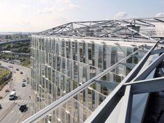 """""""Onix"""" office building, Lille, France by Dominique Perrault Architectes, Paris, France / ALUCOBOND®   naturAL Line"""
