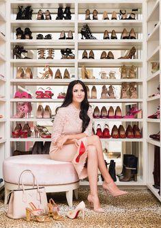 My Closet Revamp. - Pink Peonies by Rach Parcell Walk In Wardrobe, Walk In Closet, Shoe Closet, Master Closet, Closet Bedroom, Alice Lane Home, Celebrity Closets, Celebrity Style, Luxury Closet