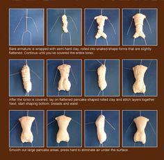 Doll Making ~ Sculpey Tutorial ~ 1