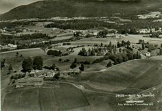 Vestfold fylke Lardal kommune Svarstad flyfoto Widerøe 1960-tallet